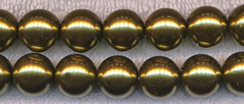 Glass Pearls, 6mm ANTIQUE GOLD