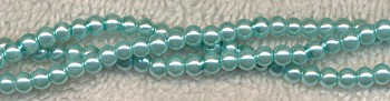 Glass Pearls, 4mm POWDER BLUE