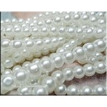 ZSOLDOUT - Glass Pearls, 8mm WHITE