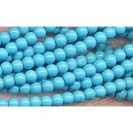6mm Round Glass Pearls TURQUOISE