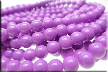 Orchid 8mm Glass Pearls