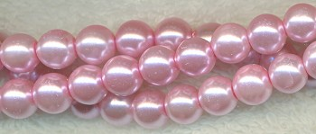 ZSOLDOUT - Glass Pearls, 8mm PINK