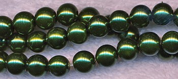 Glass Pearls, 8mm EMERALD GREEN