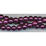 ZSOLDOUT - Glass Pearls, 8mm ROYAL PLUM PURPLE