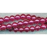 8mm Round Glass Pearls FUCHSIA MAUVE