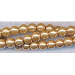 6mm Round Glass Pearls GOLDEN TAUPE