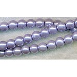 ZSOLDOUT - Glass Pearls, 8mm LIGHT LAVENDER PURPLE