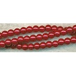 ZSOLDOUT - Glass Pearls, 4mm RED