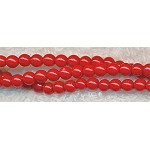 ZSOLDOUT - Glass Pearls, 4mm BRIGHT RED