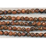 Goldstone Beads, Black Flecked 8mm Faceted Round