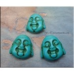 Turquoise Laughing Buddha Beads