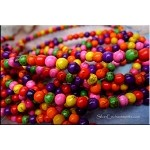 Howlite Beads, Multicolor 6mm Round