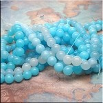 Jade Beads, Blue Round 8mm - SOLDOUT