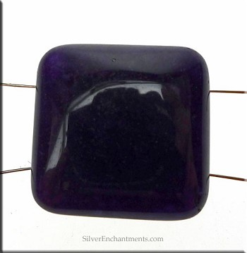 Jade Beads, Purple Jade Chicklet 2 Hole (10)