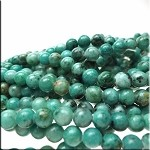 ZSOLDOUT - Jasper Beads, 6mm Round Turquoise Spotted
