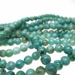 6mm Round Aquamarine Spotted Jasper Beads