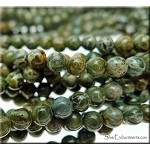 4mm Round Alligator Jasper Beads