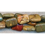 10x8mm Red Creek Jasper Rectangle Beads