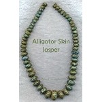 ZSOLDOUT / Alligator Jasper Beads, Graduated Rondelle 10-20mm