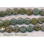 14mm Coin Alligator Jasper Beads