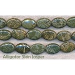 Alligator Jasper Beads, Oval 18x14mm