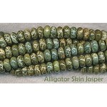 10mm Rondelle Alligator Jasper Beads