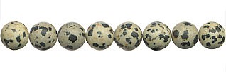 6mm Round Frosted Dalmation Jasper Beads