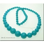 Turquoise Beads, Round 6mm to 14mm Graduated