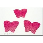 Stone Butterfly Pendant Beads, Pink