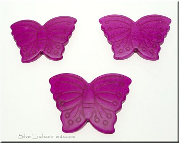 Butterfly Bead Pendants, Violet 40x30mm