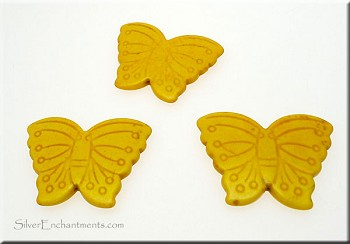 Stone Butterfly Pendant Bead