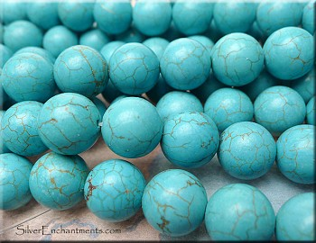 Turquoise Beads, Round 14mm