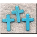ZSOLDOUT - Turquoise Bead Pendants, Cross
