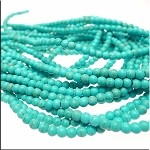 Turquoise Beads, Round 4mm