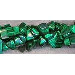 Chips and Nugget Malachite Beads