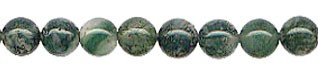 Moss Agate Beads, Round 6mm