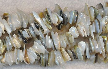Mother of Pearl Beads, Mother of Pearl Chips, Natural