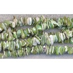 Mother of Pearl Beads, Mother of Pearl Chips, Green