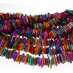 SOLDOUT - Multicolored Mother of Pearl Chip Beads, 8mm