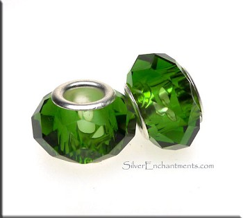 Faceted Glass Large Hole Bead