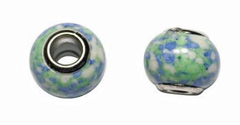 Stone Large Hole Beads, Multicolor European Big Hole Beads (8)