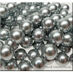 SOLDOUT - Shell Pearls, 12mm Round Grey-Silver Pearls