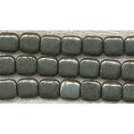 Pyrite Beads, Chicklet 12mm Square Fool's Gold
