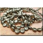 Pyrite Beads, Coin 8mm Fools Gold