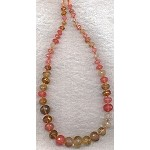 Quartz Crystal Beads, Rondelle Graduated Mixed