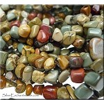 Red Creek Jasper Beads, Pebbles Nuggets