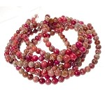 Sea Sediment Jasper Beads, Mixed Round 6mm