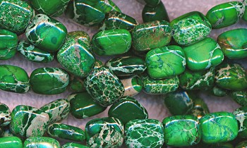 Green Sea Sediment Jasper Beads, 10x8mm Rectangle