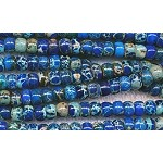 6mm Blue Sea Sediment Jasper Rondelle Beads
