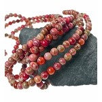 6mm Round Mixed Red Sea Sediment Jasper Beads